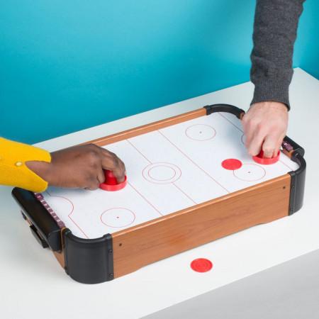 Joc de masa Air Hockey, 56 x 30 cm, baterii