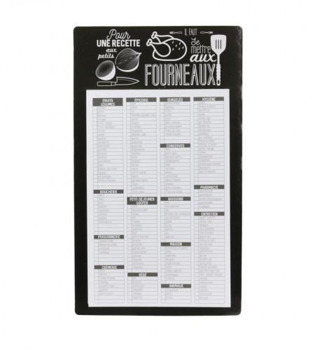 Lista de cumparaturi magnetica, precompletata, limba Franceza
