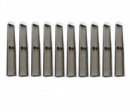 Set 10 cutii duble pentru stylus sau pix, plastic, 159 x 37 x 20 mm