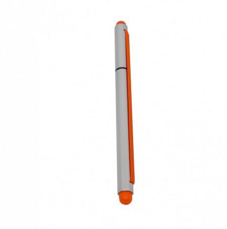 Stylus 2 in 1 cu Pix cu capac si elastic, Portocaliu
