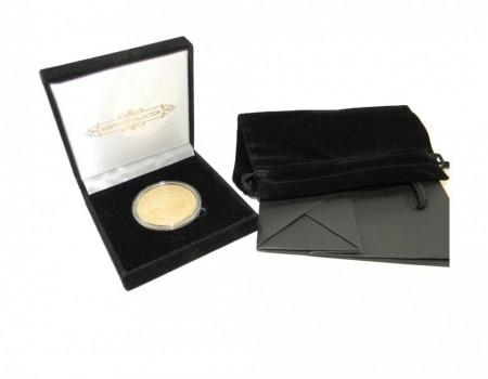 Set complet ambalaj tip cadou pentru moneda de 40 mm, Negru