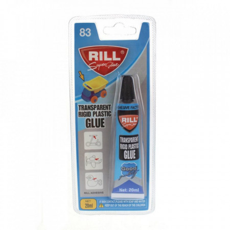 Adeziv Rill Super Glue, pentru plastic rigid, model Rill 83, 20 ml, transparent