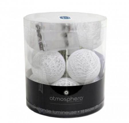 Ghirlanda cu lumini LED G1,decor interior, 165 x 6 cm, alb perlat