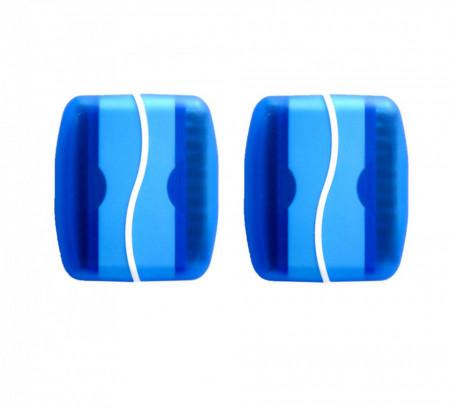 Set 2 bucati, Perie de curatat tablete, cu laveta pentru Touch Screen, albastra