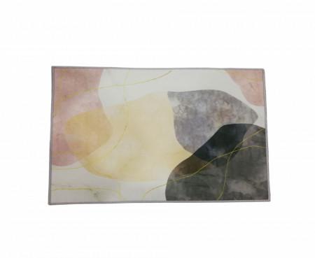 Covoras de Bucatarie, anti alunecare, cu margini sufilate, Marble, 50 x 80 cm