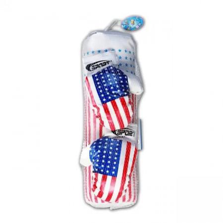 Sac de box cu manusi asortate,  model America, 50 cm