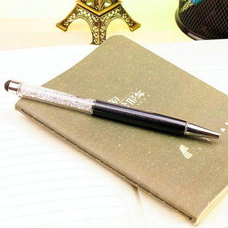 Stylus pen Elegant cu pix incorporat si decorat cu Cristale