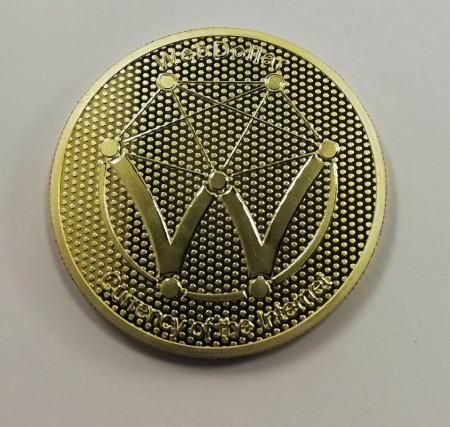 Moneda Suvenir WebDollar, diametru 40 mm, Aurie