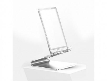Suport modern Baseus Glass Bracket pentru Birou - Argintiu
