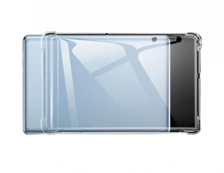Husa pentru Huawei MediaPad T3 10, TPU Bumper, Antisoc, transparent
