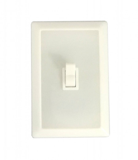 Lampa cu baterii si intrerupator, 6 leduri, retro, alba