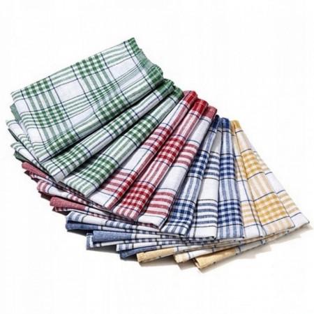 Set 12 bucati, prosoape de bucatarie cu tesatura rara, 40 x 70, multicolor