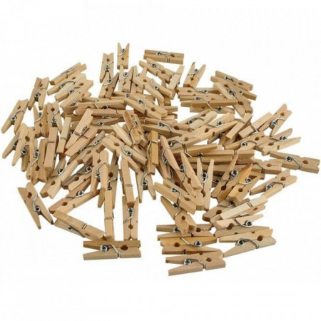 Set 100 de bucăți de carlige din lemn pentru decor, hand made si artizanat