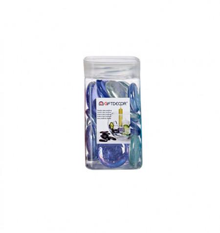 Sticla decorativa, discuri ovale, lucioase, 420 grame, Mov