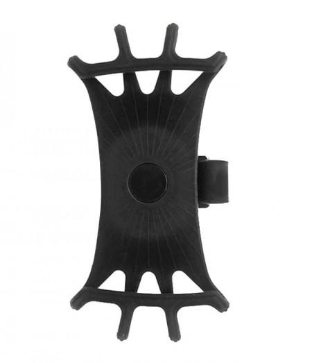 Suport de telefon pentru bicicleta, fixare pe ghidon, silicon, elastic, rotire 360 grade