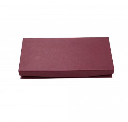 Cutie tip cadou pentru instrumente de scris, suport mesaj, Burgundiu