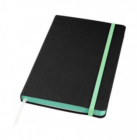 Jurnal liniat dictando A5, 80 file, coperti cartonate, contur verde
