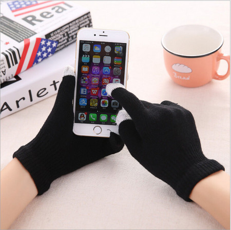 Manusi de iarna pentru touch screen, negre
