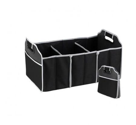 Organizator auto pentru portbagaj, pliabil, 3 compartimente, 2 buzunare