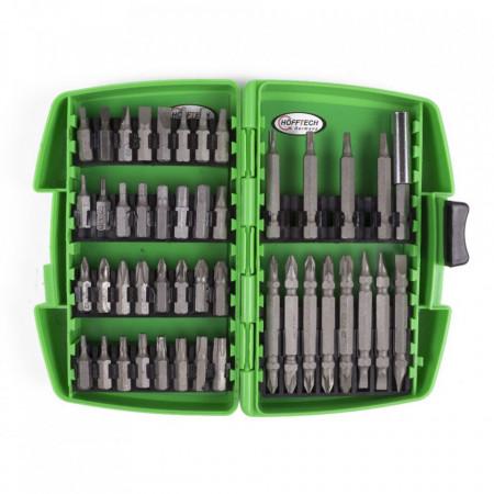 Set 45 piese, Bituri hexagonale CR-V, in cutie de culoare verde