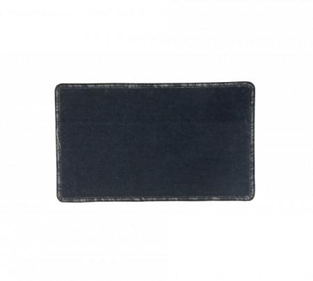 Covoras pentru fotoliu cu margini sufilate, 50 x 30 cm, Negru