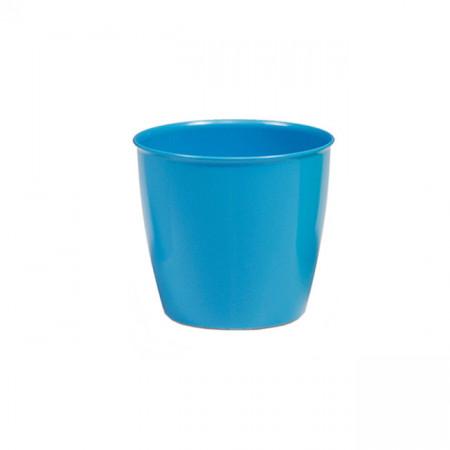 Ghiveci pentru flori, LUX Academy, rotund, diametru 11 cm, Albastru