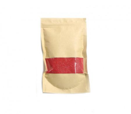 Set 100 grame Granule de ceara si doua fitile, pentru lumanari, rosu
