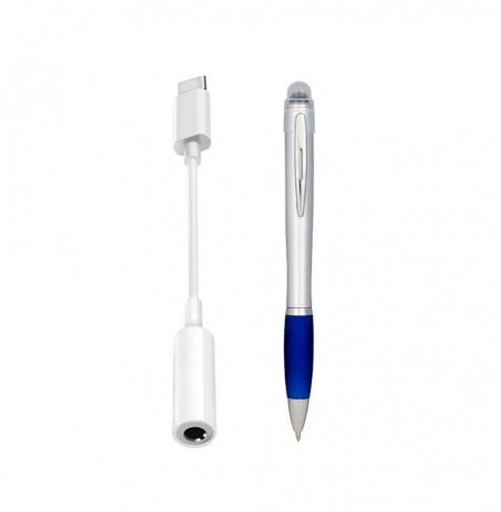 Set Adaptor audio pentru tableta USB tip C to Jack Audio 3.5 mm si Stylus Nash
