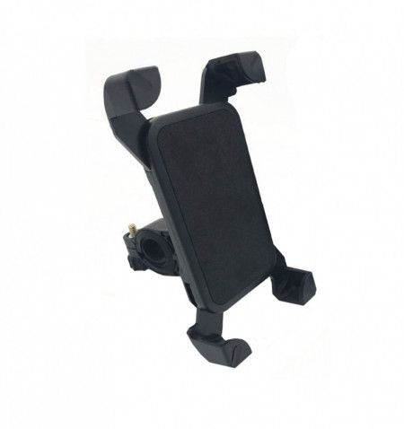 Suport de telefon pentru bicicleta, rotire 360 grade, prindere 4 colturi simultan, negru