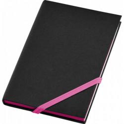 Agenda liniata dictando A6, 80 file, coperti cartonate, contur Roz Fuchsia