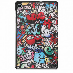 Husa Smart Cover Tableta Samsung Galaxy Tab S6 Lite 10.4 inch - graffiti