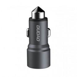 Incarcator Auto Dudao R5, metalic, 2 x USB , Gri
