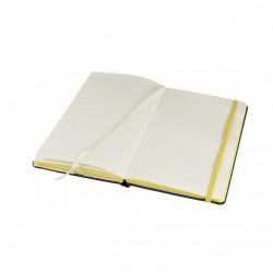 Jurnal liniat dictando A5, 80 file, coperti cartonate, contur galben