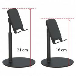 Set suport de birou pentru telefon, brat telescopic, unghi reglabil, negru si Stylus pen Nash