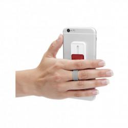 Suport tip Hand Strap pentru telefon, autoadeziv, cu buton Visiniu