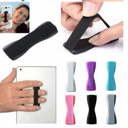 Suport tip Hand Strap, pentru telefon, autoadeziv, Rosu