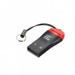 Cititor card-uri TF Micro SD - pentru USB 2.0 - portabil, cu snur