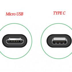 Cablu de date Micro USB to USB tip C, negru, 100 cm