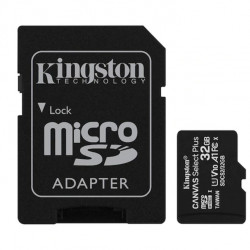Card de memorie MicroSD Kingston, 32GB, 100MB/s, cu adaptor, negru