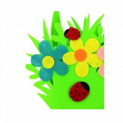 Cosulet de Paste din pasla, cu model decorativ, Verde