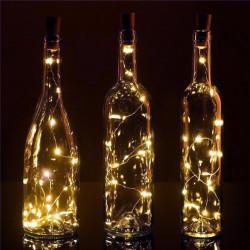 Ghirlanda lumini tip zana, micro fairy, Dop Sticla, 70 cm, 8 led-uri, alb cald