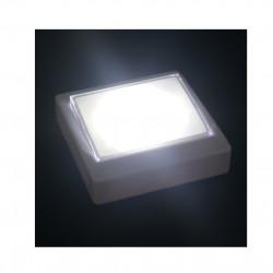 Lampa LED cu intrerupator, 3 moduri de fixare, 12 LED-uri, Alba