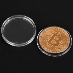 Moneda Suvenir Bitcoin Copper, diametru 40 mm, mjb 2018