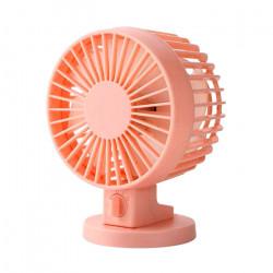 Ventilator cu doua palete, ultra silentios, 2 viteze, alimentare la USB, Portocaliu