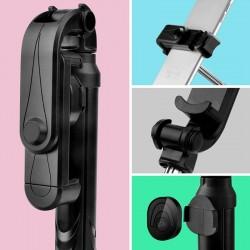Bluetooth Selfie Stick cu tripod si telecomanda - Negru