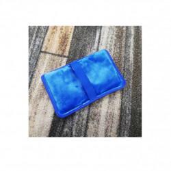 Compresa calda  cu silicon si captuseala de plus , fixare cu elastic, albastra