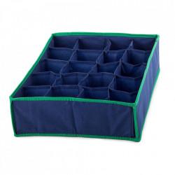 Organizator pentru sosete si lenjerie intima cu 20 de compartimente, Albastru