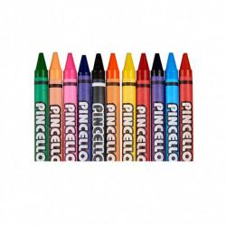 Set 24 bucati creioane cerate, fara miros