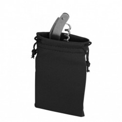 Set 4 bucati, saculet pentru cadouri, din material textil, prevazut cu snur, 12 x 7 cm, Negru