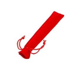 Saculet din catifea pentru stylus sau pix - Rosu